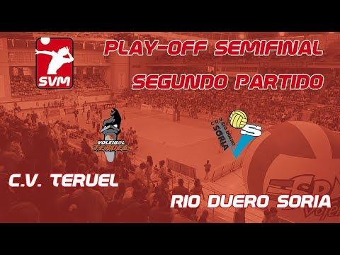 Directo del CV Teruel- Río Duero. Segundo punto de los playoffs.