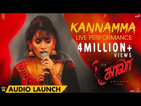 Kannamma Live Performance At Kaala Audio Launch | Rajinikanth | Pa Ranjith | Santhosh Narayanan