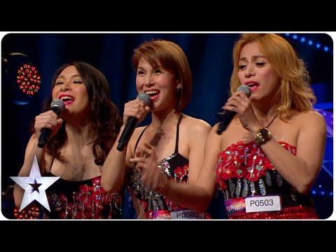 三個辣妹一開口唱歌,就讓全場都驚呆了!沒想到會...