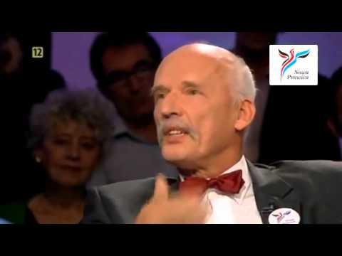 Janusz Korwin-Mikke mocno masakruje Tomasza Lisa, komunistów i Adolfa Hitlera