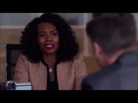 Suits 8x12 Meets Alex's Wife In A Deposition Beside Samantha