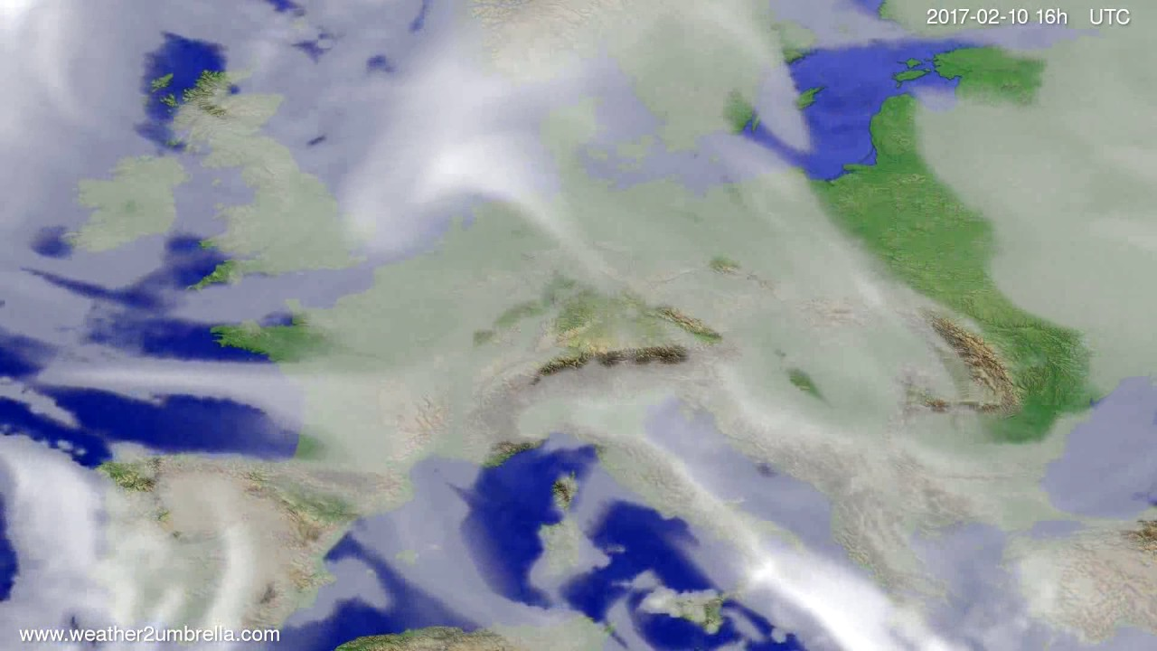 Cloud forecast Europe 2017-02-07
