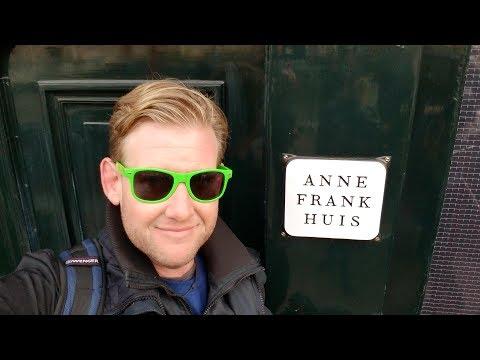 #484 Tour of AMSTERDAM  ANNE FRANK HOUSE & City Exploration - Daze With Jordan The Lion (12/3/2017)