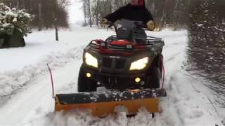 4. ATV Snowplowing - Arctic cat 400