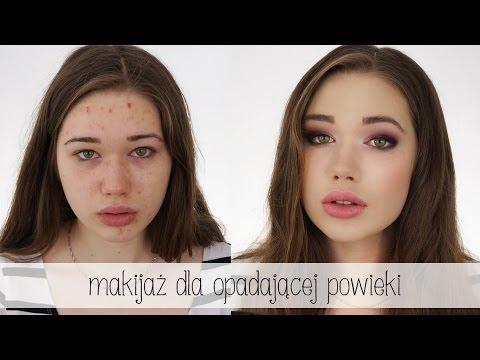 Makijaż dla opadającej powieki + kamuflowanie niedoskonałości