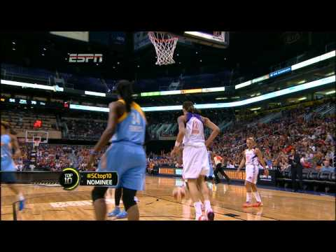 Rookie Brittney Griner's first dunk as WNBA Player!