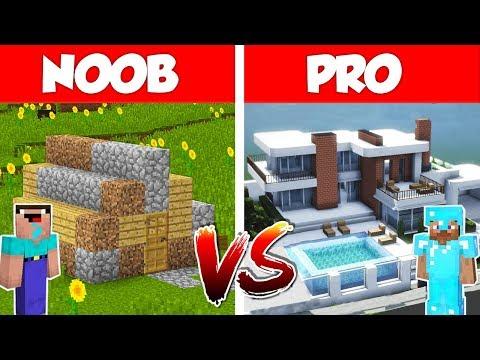 Minecraft NOOB vs PRO: 10 Million$ Modern House Battle in Minecraft / Animation