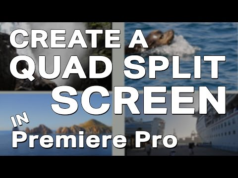how to create a quad split screen in adobe premiere pro bizvid communications. Black Bedroom Furniture Sets. Home Design Ideas