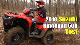 6. 2019 Suzuki kingQuad 500 Test Review