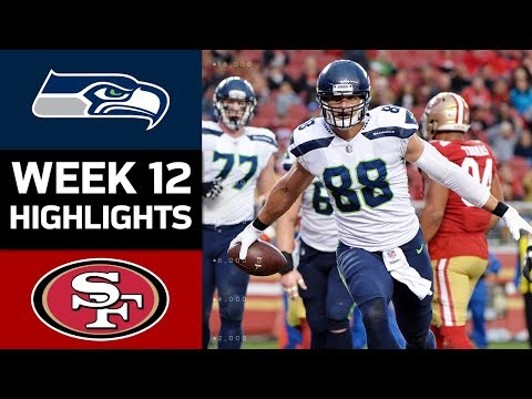 Seahawks vs. 49ers | NFL Week 12 Game Highlights (видео)