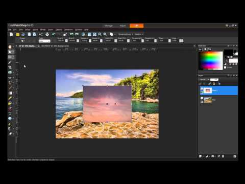 Introduction to Layers in PaintShop Pro X5