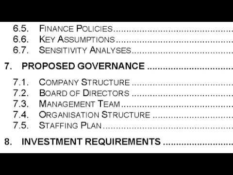 Business Plans : How to Write a Simple Business Plan