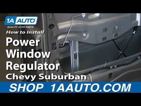 How To Install Replace Fix Power Window Regulator 2000-02 Chevy Suburban Tahoe