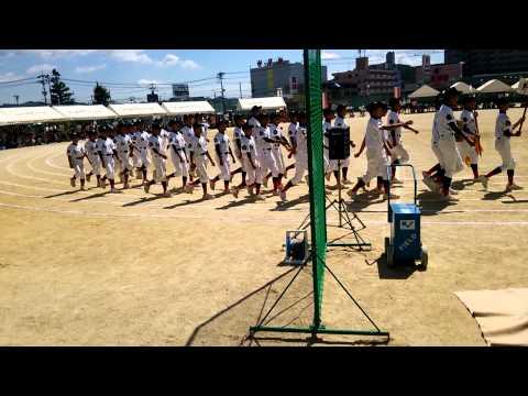 スポーツ部行進(2014 西条中学校 体育際)