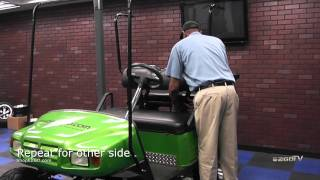 E-Z-GO golf cart tops are a great accessory for style, comfort and weather protection. This video shows you the easy installation steps for a 80 inch top on a 4 ...