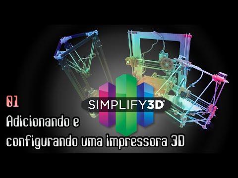 Tutorial Simplify3D #01 - Adicionando e configurando uma impressora