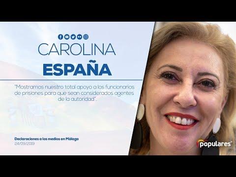 """Carolina España: """"Mostramos nuestro total apoyo a los funcionarios de prisiones"""""""