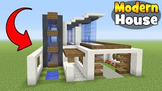Minecraft Tutorial: How To Make A Realistic Modern House