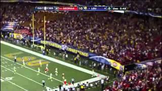 Honey Badger Punt Return | Tyrann Mathieu of LSU 62 Yard Touchdown SEC Championship Game
