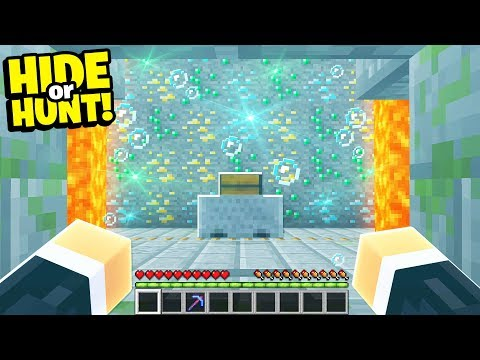 finding a SECRET Minecraft base filled with ORES! - Hide Or Hunt #2