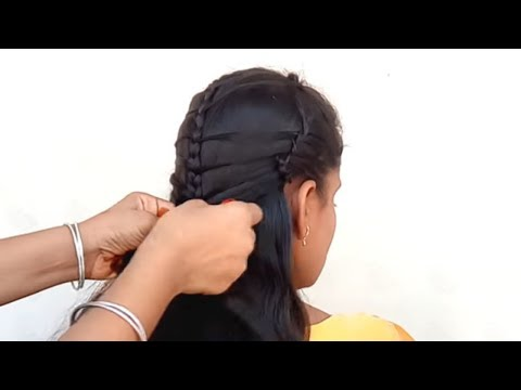 Braid hairstyles - Simple college braid hairstyle  Classic braids hairstyles for girls
