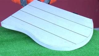 How to Frame round decking Areas with DURO decking Profile 10x95