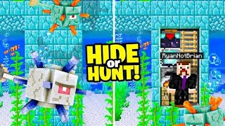 Minecraft Hide or Hunt, Making a Secret Ocean Monument Base!