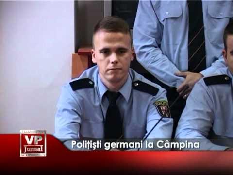 Poliţişti germani la Câmpina