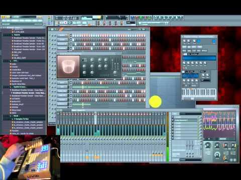Li-Kou KillerLoops [Elec-Tribe-Core] Live on FL Studio + Livid OHM64 + Akai LPK25 + Arduinome/Monome