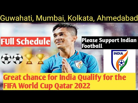 India Full Schedule of FIFA World Cup Qatar 2022 Qualifiers Round
