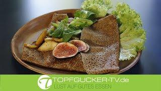 Galette | Buchweizencrepe | Roquefort und karamellisierter Birne