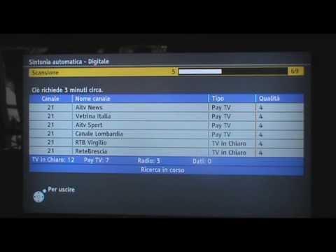 GUIDA - sintonizare televisione panasonic