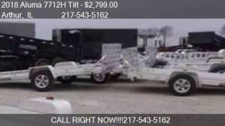3. 2018 Aluma 7712H Tilt Aluminum Trailer for sale in Arthur, I