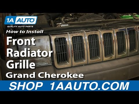 How To Install Replace Front Radiator Grille 1996-98 Jeep Grand Cherokee