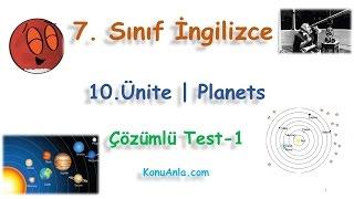 7. Sınıf  İngilizce  10. Ünite  Planets  Çözümlü Test-1(Beğeni, paylaşım, yorum ve reklam tıklamalarınızla kanalımıza destek olabilirsiniz.)