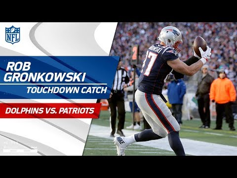Video: Gronk Grabs His 2nd TD of the Day After Dion Lewis' Huge Run! | Dolphins vs. Patriots | NFL Wk 12