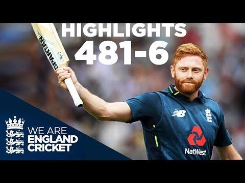 England Smash World Record 481-6 | England v Australia 3rd ODI 2018 - Highlights (видео)