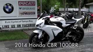 4. Pre-Owned 2014 Honda CBR1000RR Pearl White at Euro Cycles of Tampa Bay