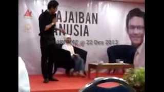 #MotivationTalkshow #KeajaibanManusia Andi Arsyil Rahman Putra @Surabaya 22 Desember 2013