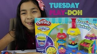 Play-Doh Frosting Fun Bakery- Tuesday Play- Doh Make Cupcakes,Cakes, Cookies,Toppings|B2cutecupcakes
