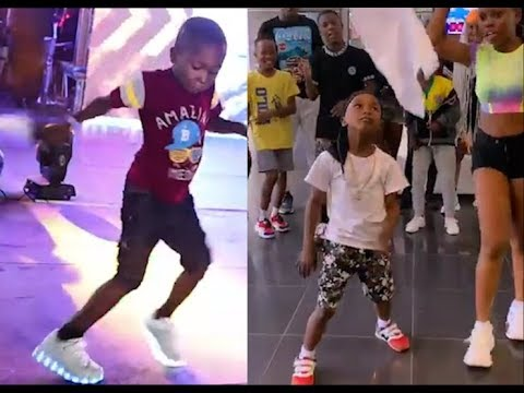 See The 5 years old Boy That Nailed Naira Marley' Soapy Dance That Got People Screaming
