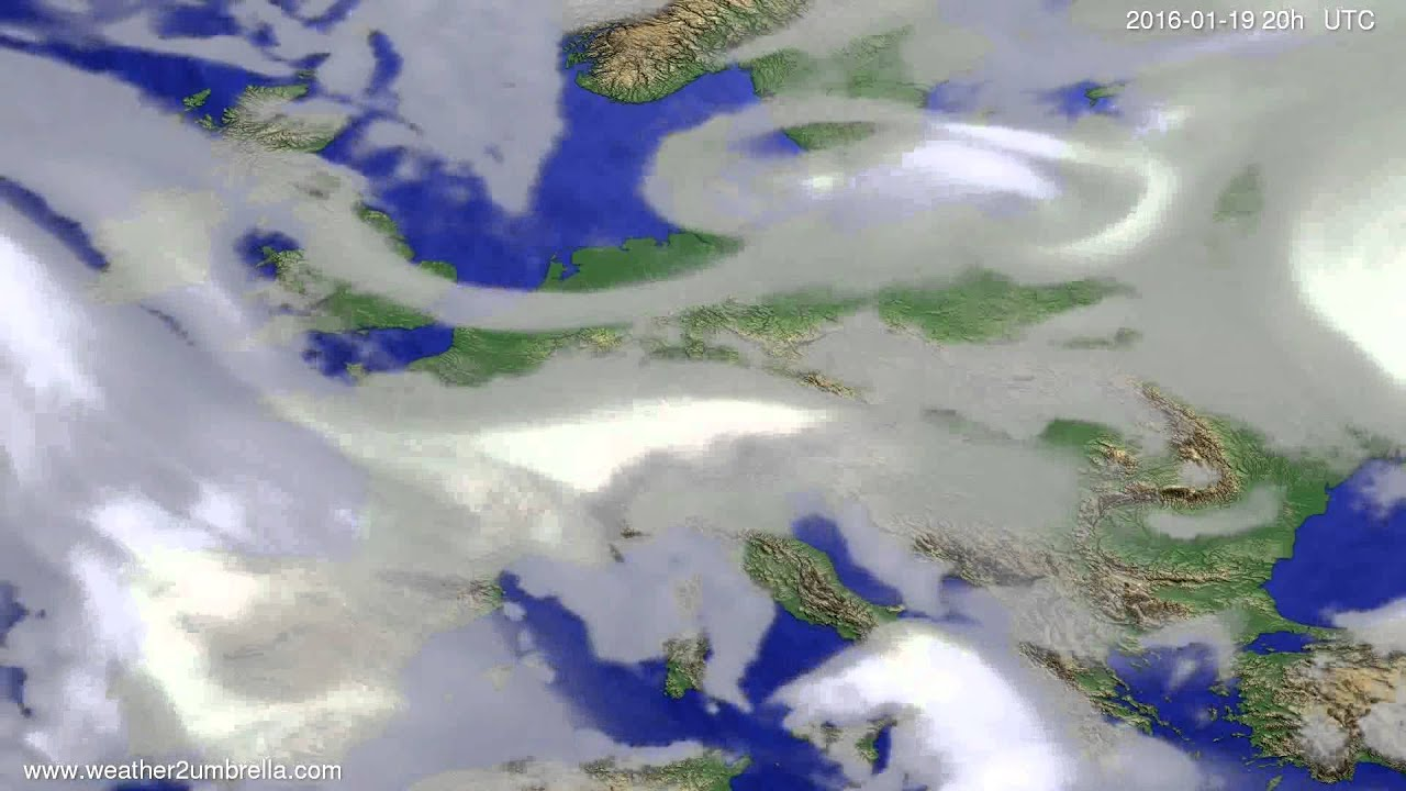 Cloud forecast Europe 2016-01-17