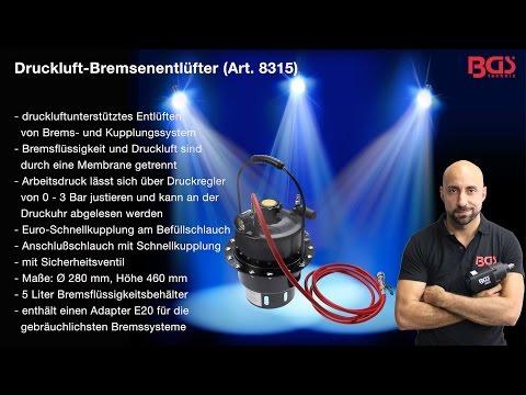 Druckluft Bremsenentlüfter (Art.  8315,8403 1,8066)