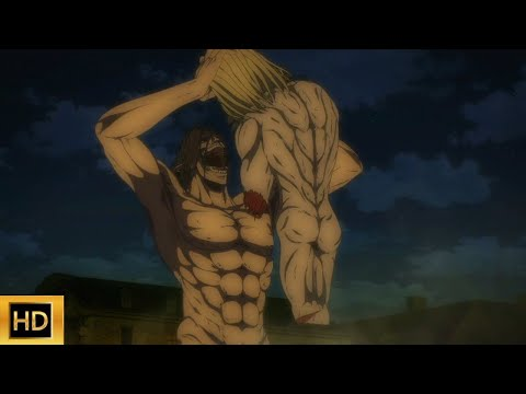 After Eating War Hammer Titan, Eren Felt Big Power in His Body   EREN VS WAR HAMMER AND JAW TITAN !!