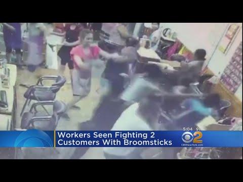 Nail salon - Watch: Salon Staff, Customers Brawl After Refusal To Pay For Eyebrow Work