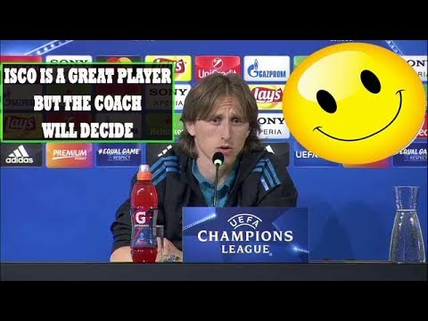 LUKA MODRIC PRESS CONFERENCE: [ISCO IS A GREAT PLAYER,COACH WILL DECIDE] [BALE IS IMPORTANT FOR US]