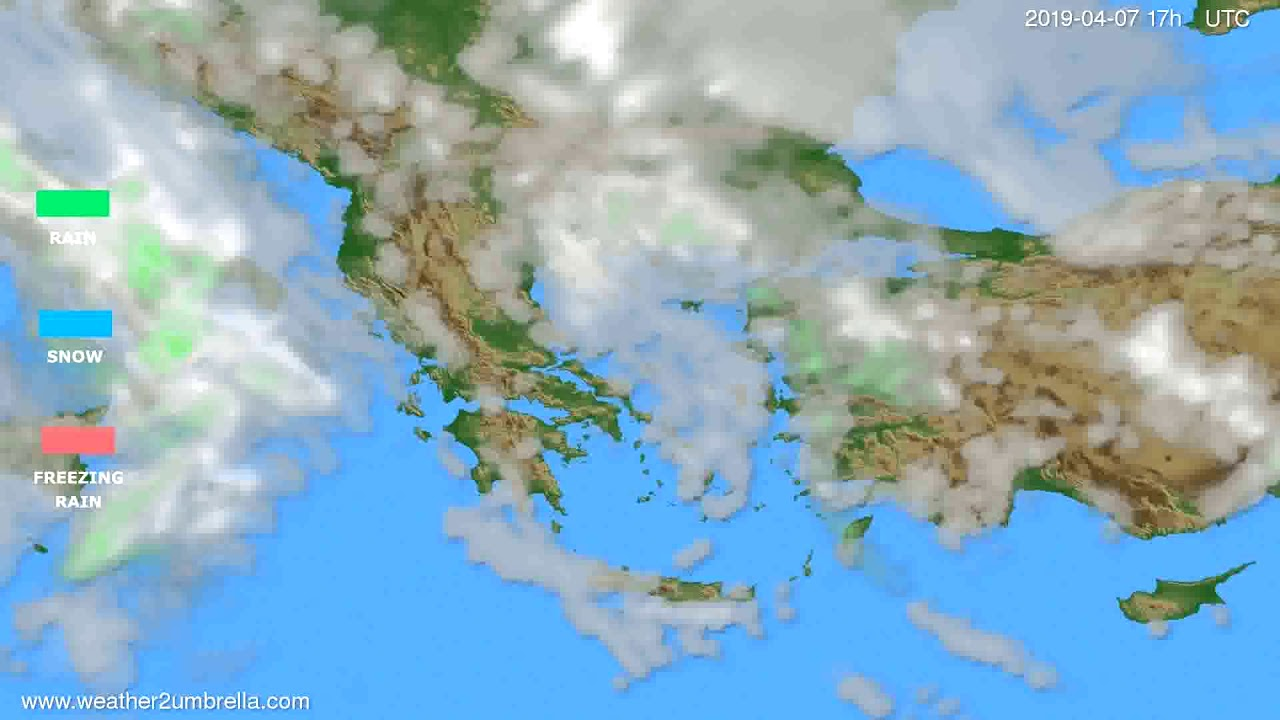 Precipitation forecast Greece // modelrun: 00h UTC 2019-04-06