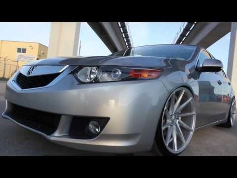 Team BeStanced Slammed Acura TSX on Vossen CVTs