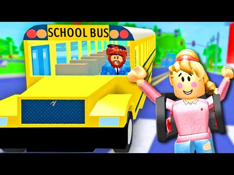BACK TO SCHOOL IN ROBLOX! Roblox Rocitizens School Bus  Roblox Funny Moments