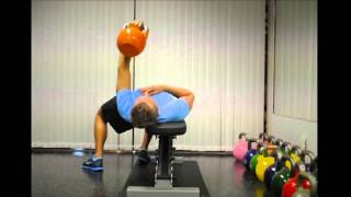 Exercise Index: Off-Set 1-Arm Benchpress with Kettlebell